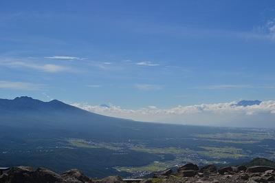 八ヶ岳、富士山、南ア