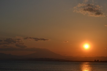 江ノ島夕日