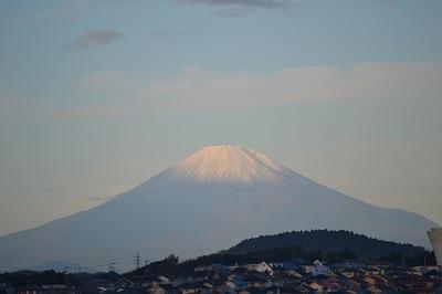 11月自宅から富士