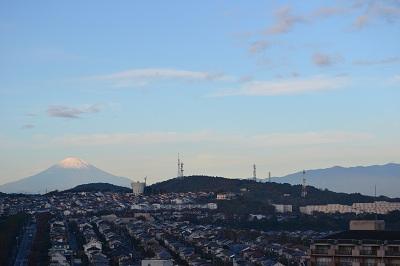 11月自宅から富士山丹沢