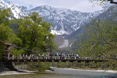 河童橋と穂高連峰